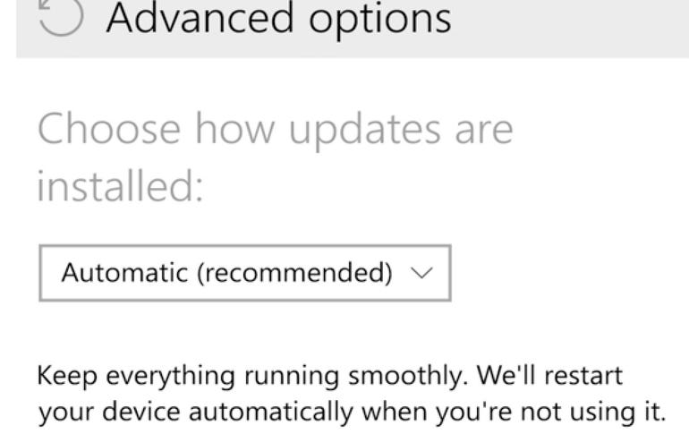 Turn on automatic updates