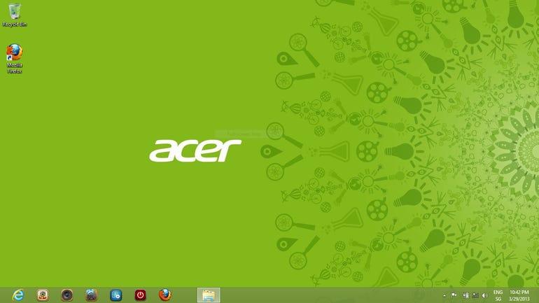 The Default Acer Windows 8 Desktop