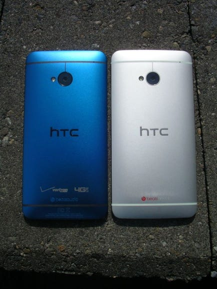 Blue and silver HTC One
