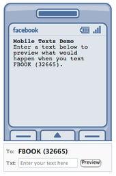 Facebook status SMS