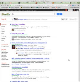 Google Search Plus for Mint Linux
