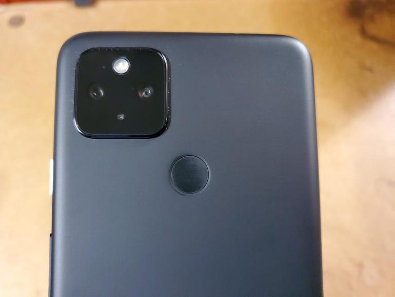 Rear fingerprint sensor and camera array