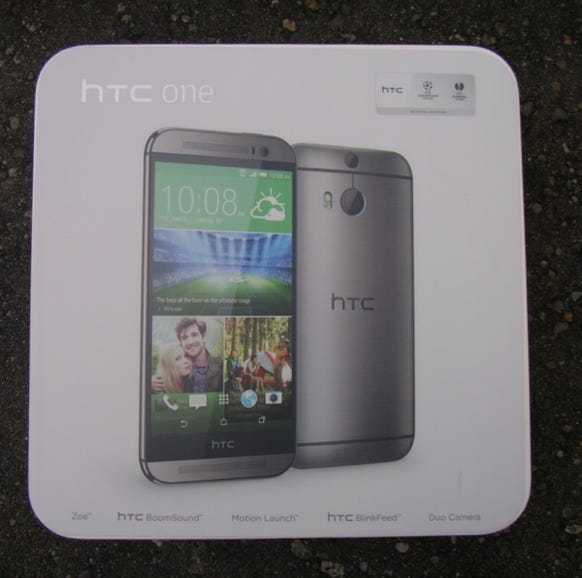 HTC One M8 international retail package