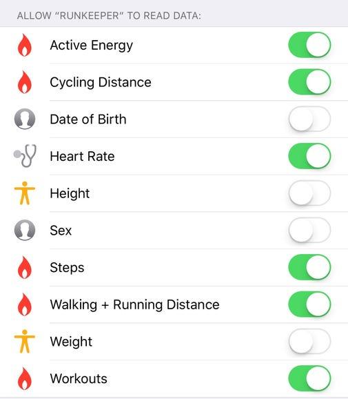 Sync data via Apple Health