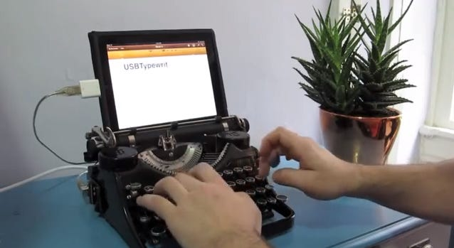 A retro iPad typewriter