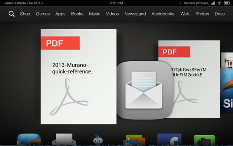 Downloaded PDF in carousel
