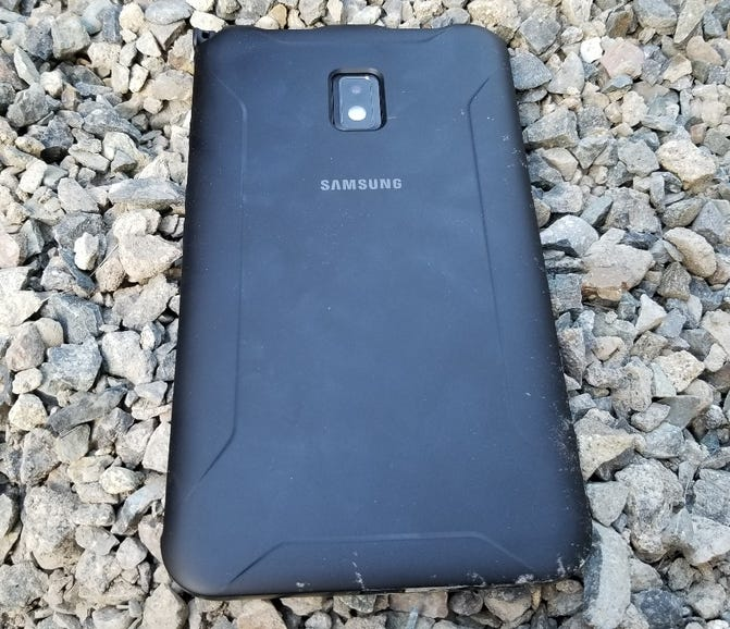 Rubber cover on the back