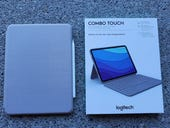 Logitech Combo Touch - keyboard and folio case - with trackpad - sand