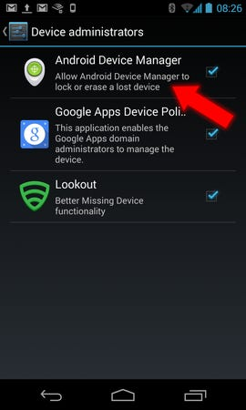 Android - Device Manager