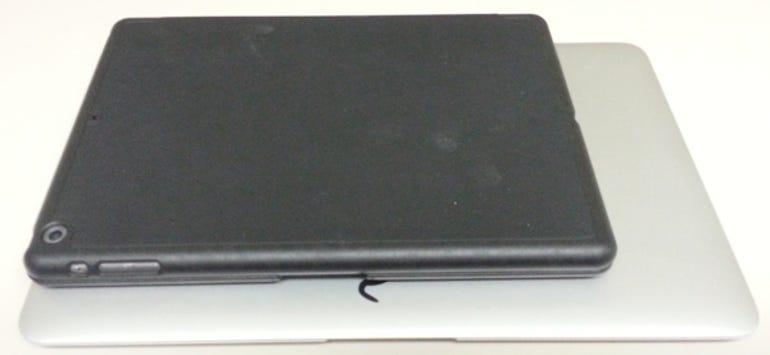 iPad MacBook size