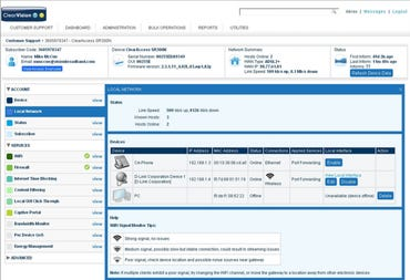 Screenshot of ClearAccess' flagship suite.