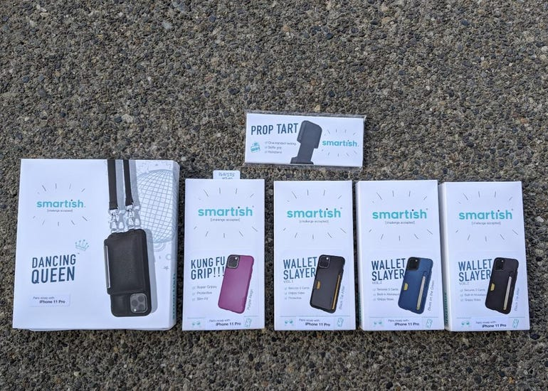 Fouir iPhone 11 Pro case options from Smartish