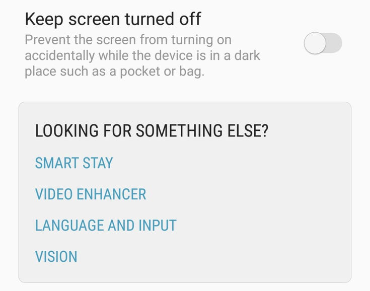 Look at the bottom of your settings