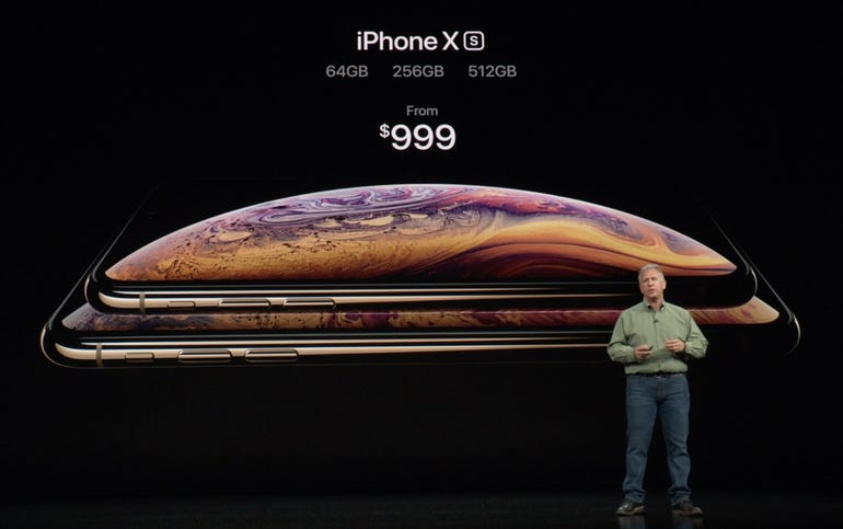 iPhone XS pricing and storage capacities
