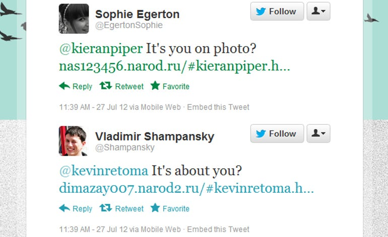 Twitter malware warning: It's you on photo? or It's about you?