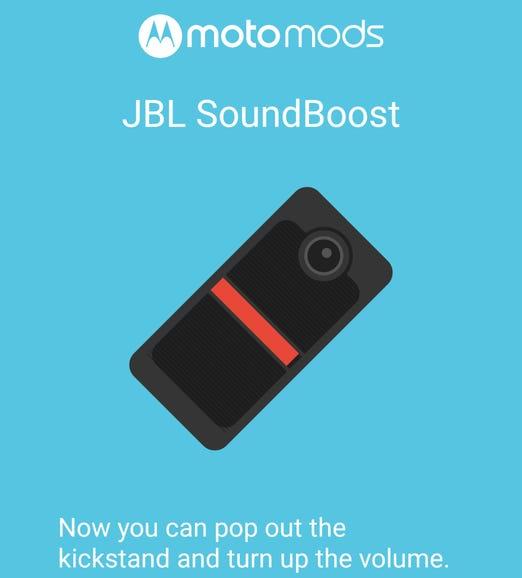JBL SoundBoost attached