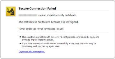 Odd Firefox Security error