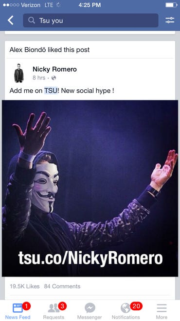 Is Facebook afraid of social network rival Tsu? ZDNet