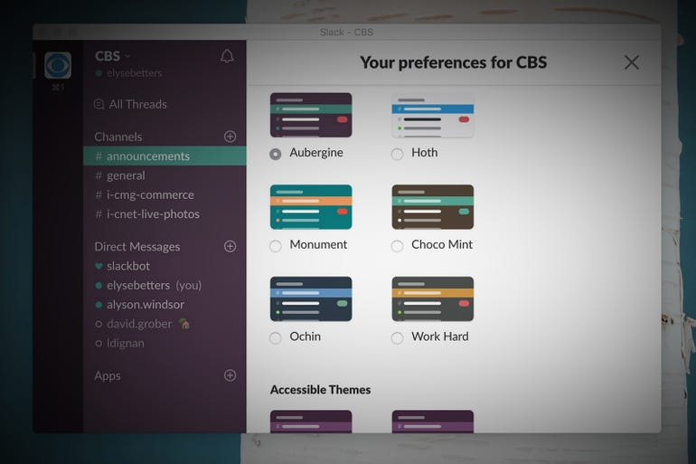Customize the look of your Slack