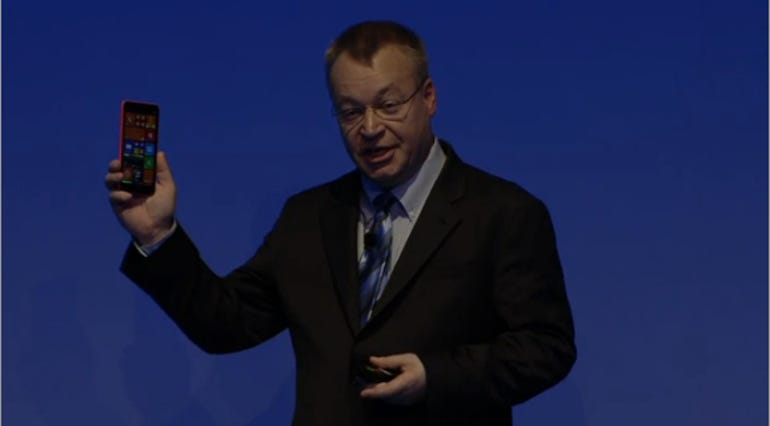 Stephen Elop shows off the 1320.