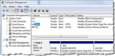 Vista Disk management console