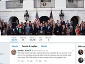 Trump's Twitter account was the top tech story in the UK in 2017