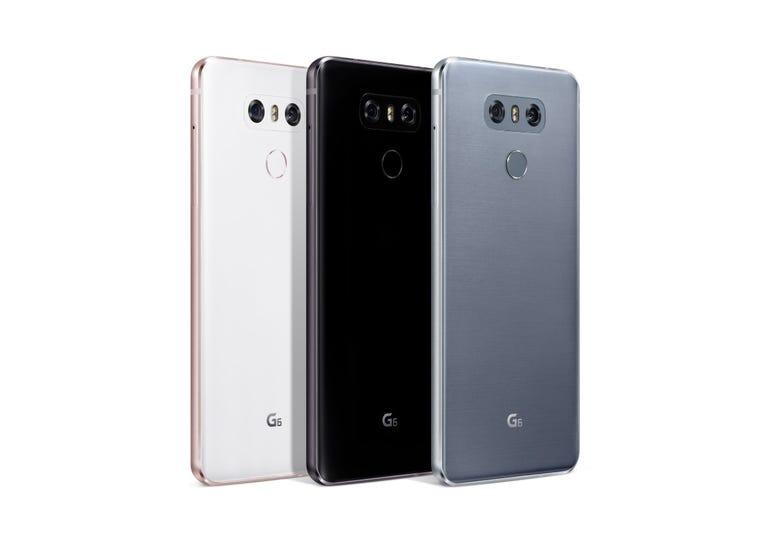 Rear of the LG G6 trio