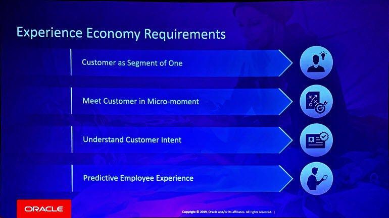 Oracle experience economy