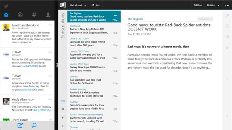 NextGen Reader snap view