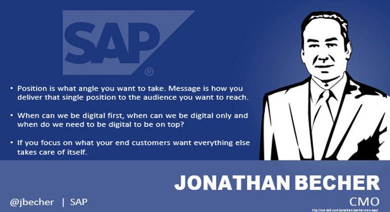 Jonathan Becher, CMO, SAP