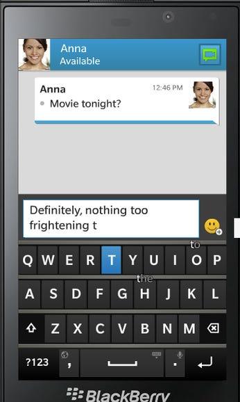 BlackBerry Z10 keyboard