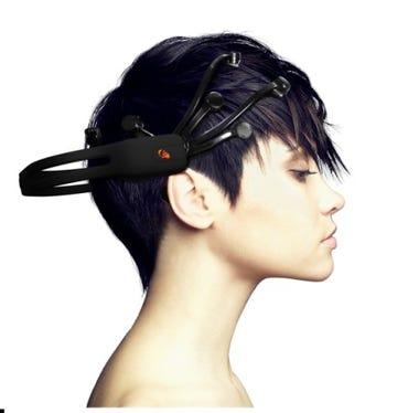 Emotiv EPOC headset in use