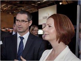Julia Gillard and Stephen Conroy