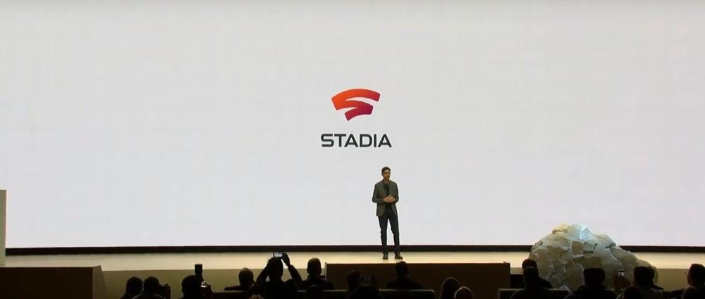 Google CEO Sundar Pichai announcing Stadia platform at GDC 2019