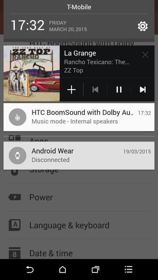 Music control options