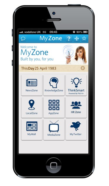 The Barclays Bank MyZone Mobile Digital Workplace and Portal App