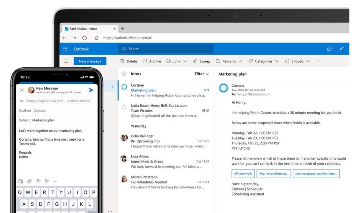 Outlook: Microsoft déploie de nouvelles commandes vocales sur iOS