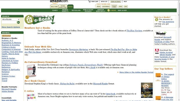 Long before there was Kindle, Amazon explored eBooks