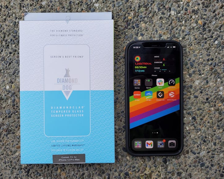 Diamond Dog screen protector for the iPhone 12 Pro Max