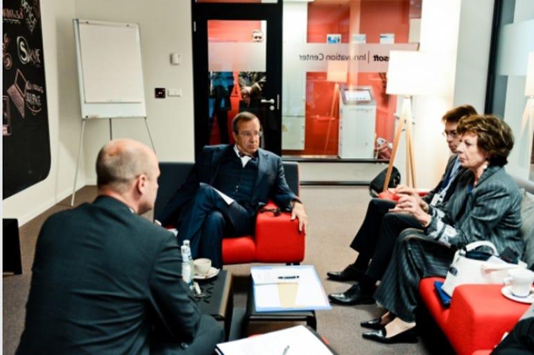 Estonian president Toomas Hendrik Ilves and EC digital chief Neelie Kroes at a meeting earlier this month