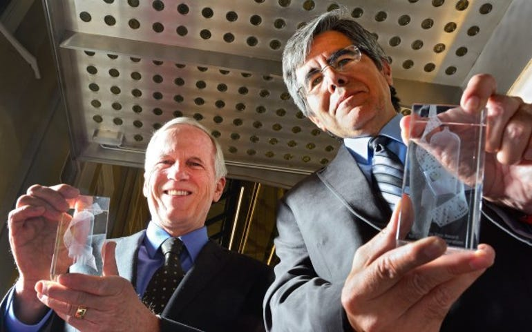Robert B Garner (left) and Prof Raul Rojas, joint winners of the 2014 Tony Sale Award