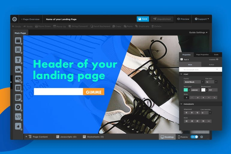 Unbounce - drag and drop landing pages