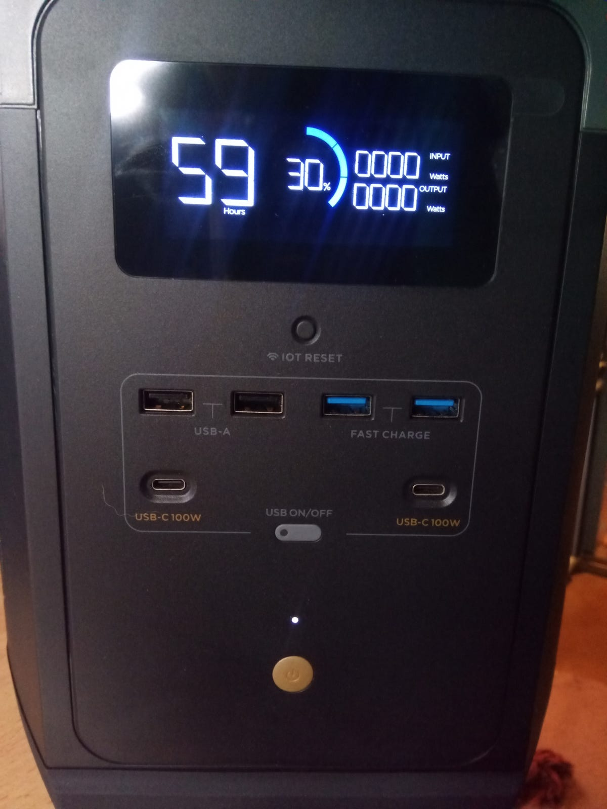 EcoFlow Delta Max portable power station 3000W output and standby time of a year zdnet
