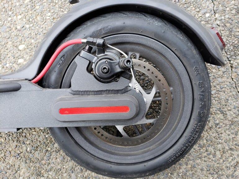 Rear wheel with break system