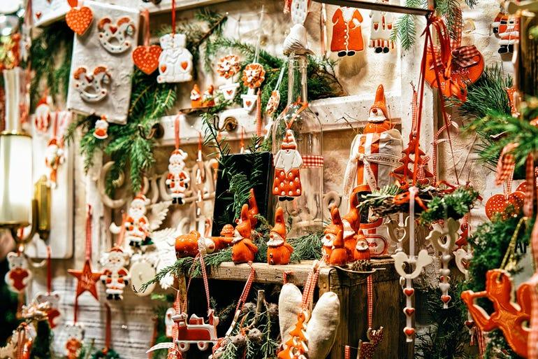 Glass Christmas Tree Decoration Night Market Gendarmenmarkt Berlin