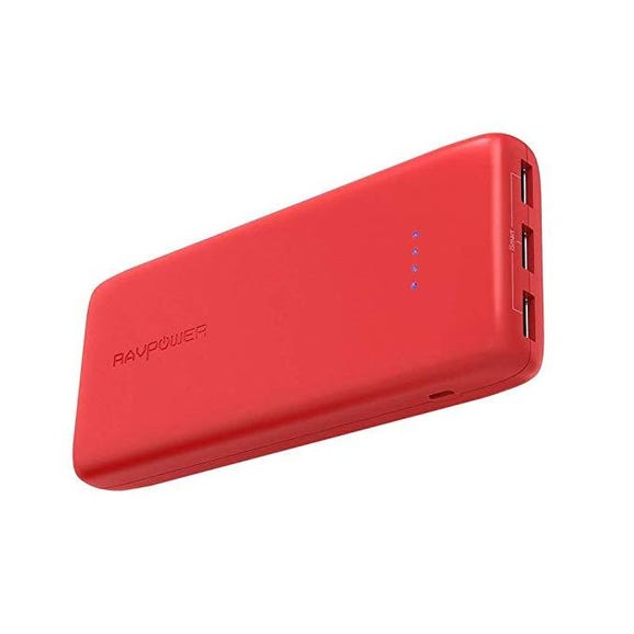 RAVPOWER Portable Battery Charger 22,000 Mah bright red