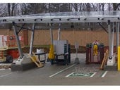 Mall pilots fast electric vehicle charger powered by solar panels