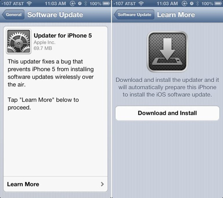 Apple releases iOS 6.0.1 OTA with special updater app for iPhone 5 - Jason O'Grady