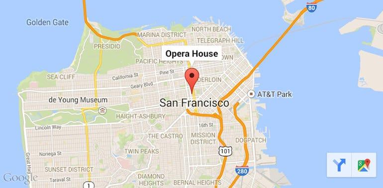 The Google Maps toolbar. Image: Google