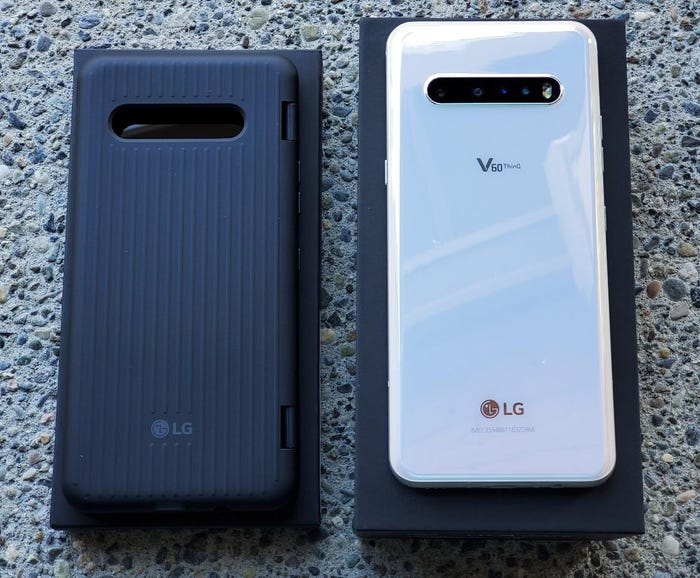 Back of the Dual Screen cover and LG V60